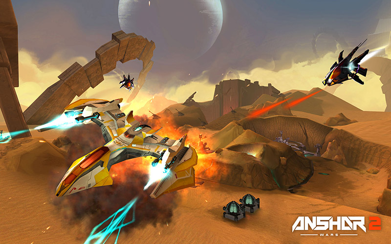 Anshar Wars 2 spaceship combat screenshot