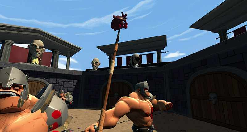 Gladiators VR fighting game, Gorn game screenshot