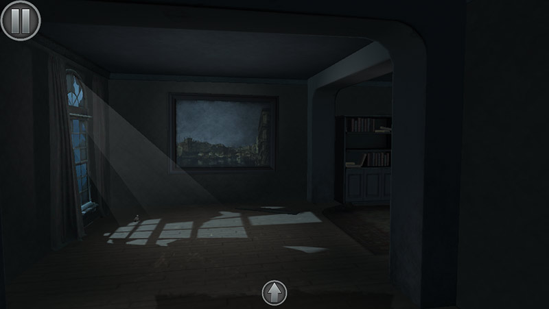 Haunted Rooms VR game screenshot,moon light shining through a window