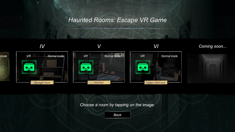 Haunted Rooms VR game six episodes and more episodes coming soon - screenshot