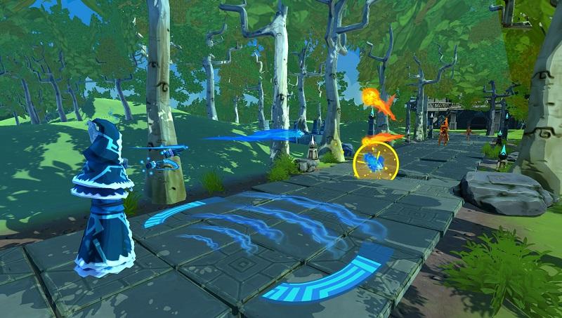 Wizard spellcasting videogame, Invoker screenshot