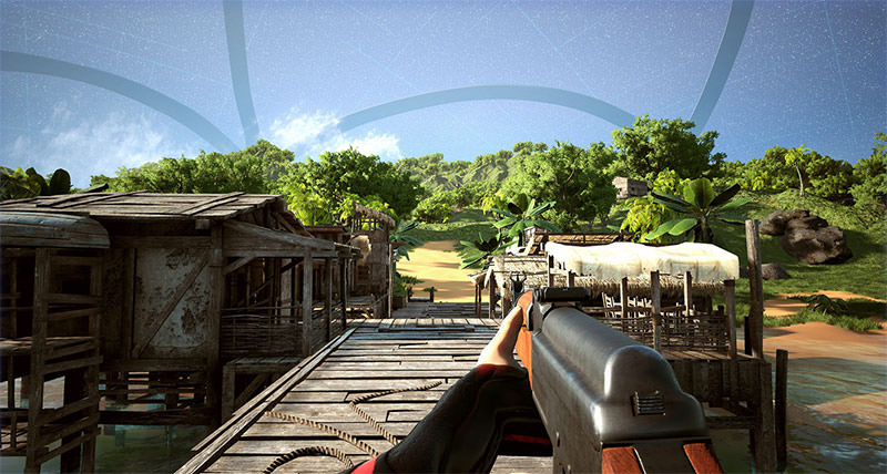 First-person shooter in an Exotic island, Islands of Nyne game screenshot