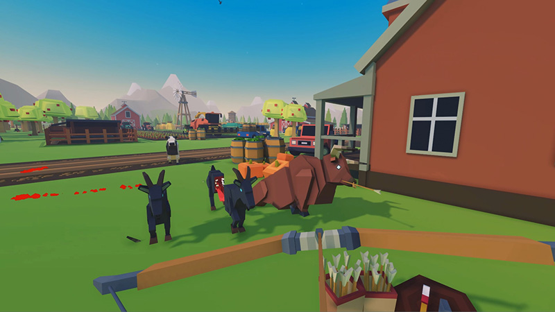 Mad Farm, VR game screenshot