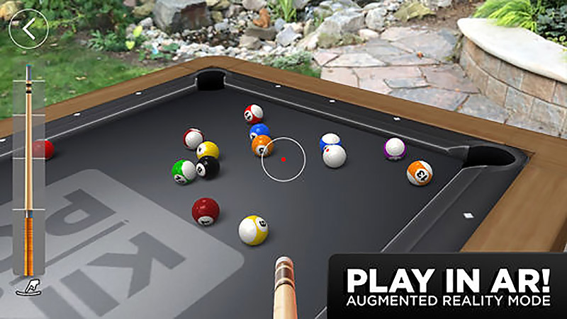 Augmented reality pool game, Kings of Pool