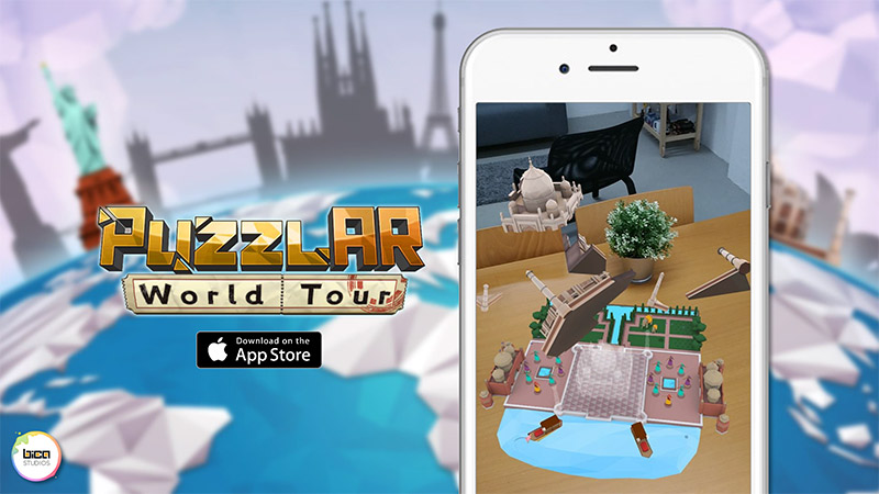 PuzzleAR: World Tour played on iPhone