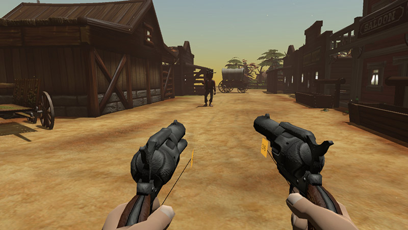 Quick Draw, wild west dual pistol first person shooter