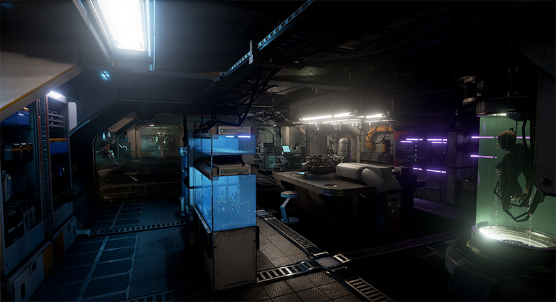 Dark scientific lab, Syren screenshot