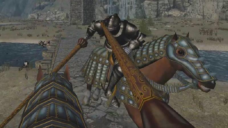 Medieval Lancer fight